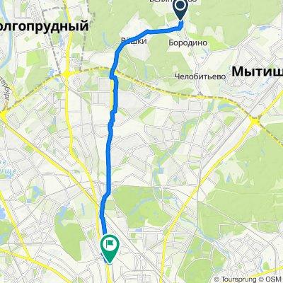 От 1-я Полевая 3, Ховрино до Москва