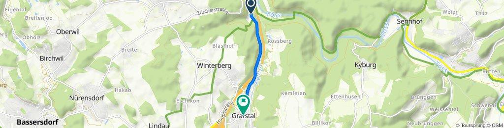 Zürcherstrasse, Winterthur nach Dorfstrasse 15, Kemptthal