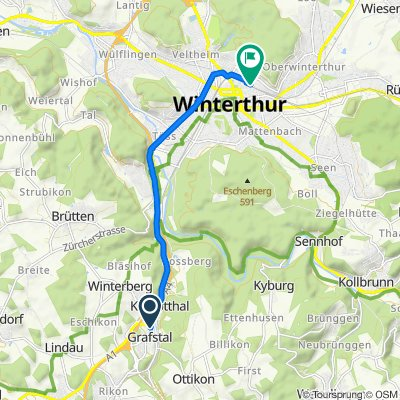 Pfäffikerstrasse, Kemptthal nach Oststrasse 26, Winterthur