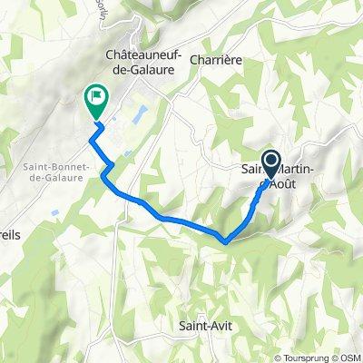 De Route de Montferrat, Saint-Martin-d'Août à 120 Rue des Doyats, Châteauneuf-de-Galaure