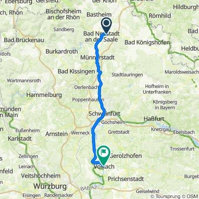 Heidelsteinstraße 2, Bad Neustadt an der Saale nach Dr.-Eugen-Schön-Straße 11, Volkach