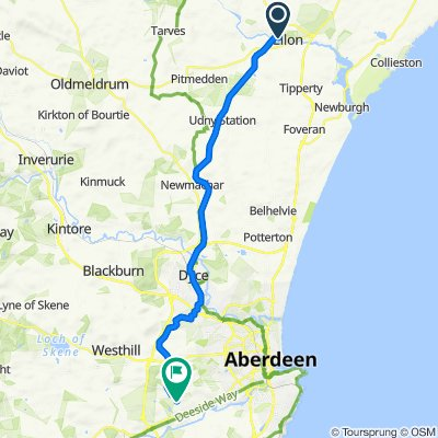 Ellon to Bieldside