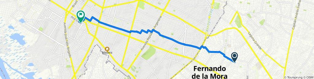 De Saavedra, San Lorenzo a Ana Díaz, Asunción