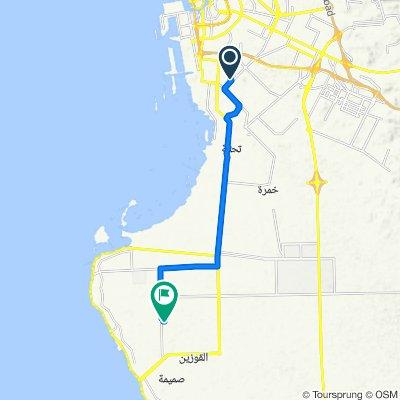 Route from 4228 حنظلة بن علي, جدّة