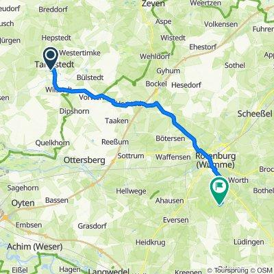 Fliederweg 5, Tarmstedt nach Am Großen Bullensee 12, Kirchwalsede
