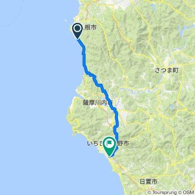 2585, Nishime, Akune-Shi to 3158-1, Yafusa, Ichikikushikino-Shi