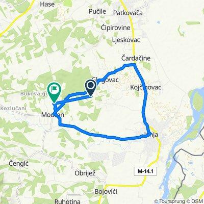 Krug(Modran-Glogovac-Kojčinovac-Janja-Modran)