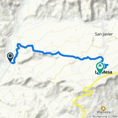 La Mesa - San Joaquín, La Mesa to Carrera 22a 8-20, El Colegio