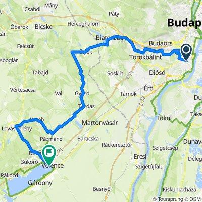 Budapest-Velence 7A kerékpárút
