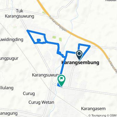 Unnamed Road, Karangsembung to Jalan Raya Karang Sembung 47, Kecamatan Karangsembung