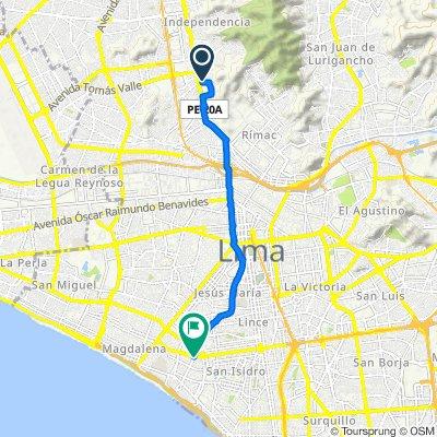 De Avenida Los Ficus 113, Cercado de Lima a Avenida Javier Prado Oeste 1190, Cercado de Lima