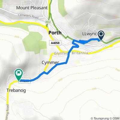 Unit 6, Llwyncelyn Industrial Estate, Porth to 31 Trebanog Road, Porth