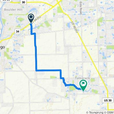 2750 US-34, Oswego to 13322–13462 S Heggs Rd, Plainfield