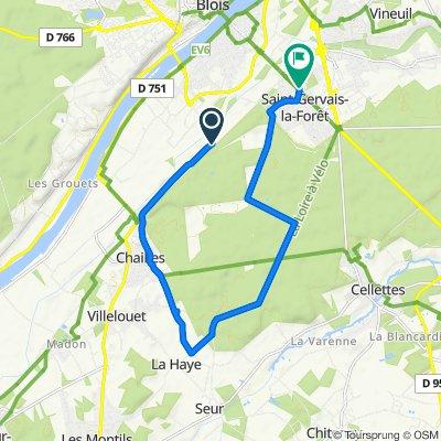 Itinéraire vers 2 Rue du Val Fleuri, Saint-Gervais-la-Forêt