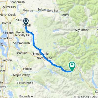Snoqualmie Valley Trail, Duvall to Annette Lake, North Bend