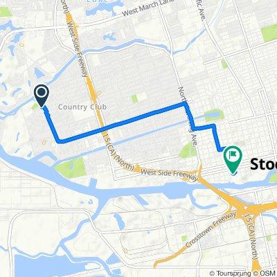 3405 W Euclid Ave, Stockton to 840 W Fremont St, Stockton