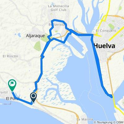 De Unnamed Road, Punta Umbría a Calle Buitre 2, El Portil