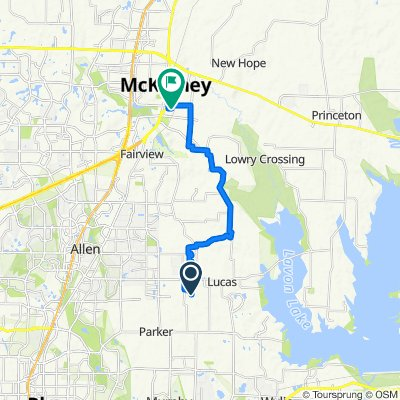 550 Bastrop Rd, Lucas to 724–798 Anderson St, McKinney