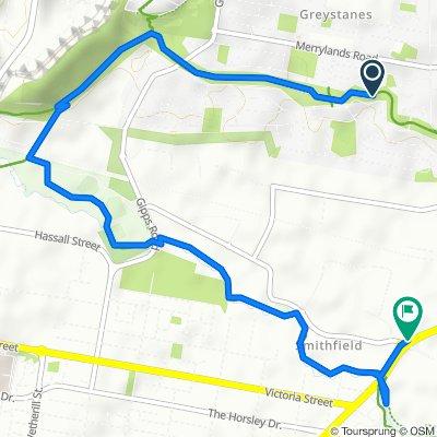 1W Hopman Street, Greystanes to 183 Warren Road, Smithfield