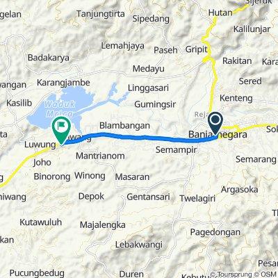 Jalan K.H. Ahmad Dahlan 6, Kecamatan Banjarnegara to Jalan Campur Salam, Bawang