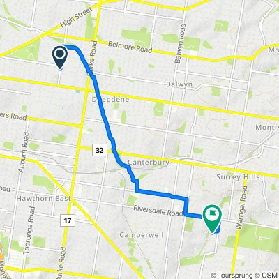 50 Normanby Road, Kew to 3 Kingfield Court, Camberwell