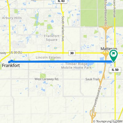 21600 S Cicero Ave, Matteson to 21600 S Cicero Ave, Matteson