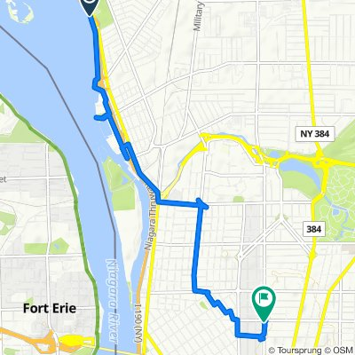 Niagara St & Riverside Park, Buffalo to Elmwood Avenue 518, Buffalo