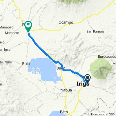 Narra Street, Iriga City to Daang Maharlika Highway, Pili