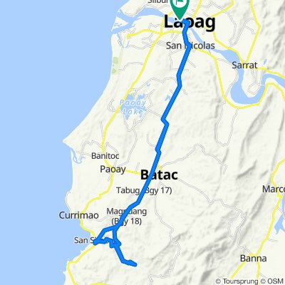 F.R. Castro 460, Laoag City to Laoag City