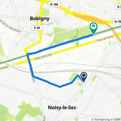 De 7 Avenue Georges Clemenceau, Noisy-le-Sec à Parc Départemental de la Bergère, Bobigny