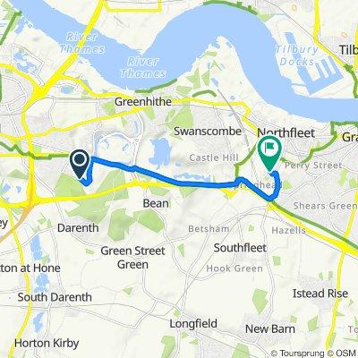 47 Darenth Park Ave, Dartford do 18 Lister Dr, Gravesend