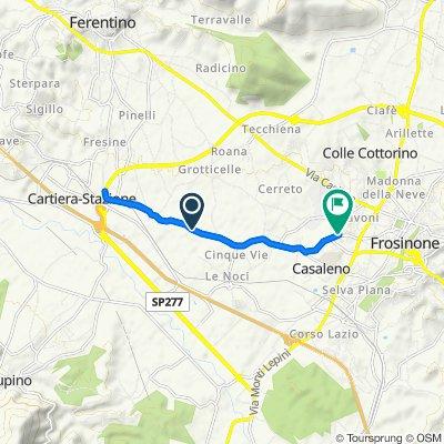 Da Via Labrofico Cuppi, Frosinone a Via Anagni, Frosinone