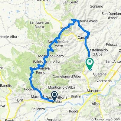 Da Via Castello 2, Santa Vittoria d'Alba a Frazione Montebello 24, Guarene