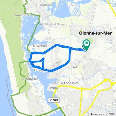 De 2 Rue des Rouliers, Olonne-sur-Mer à 5 Rue des Ouches, Olonne-sur-Mer