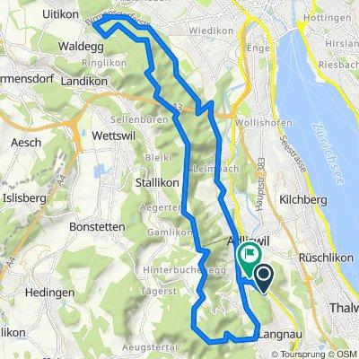 Höflistrasse 122, Langnau am Albis nach Buttenaustrasse 15, Adliswil