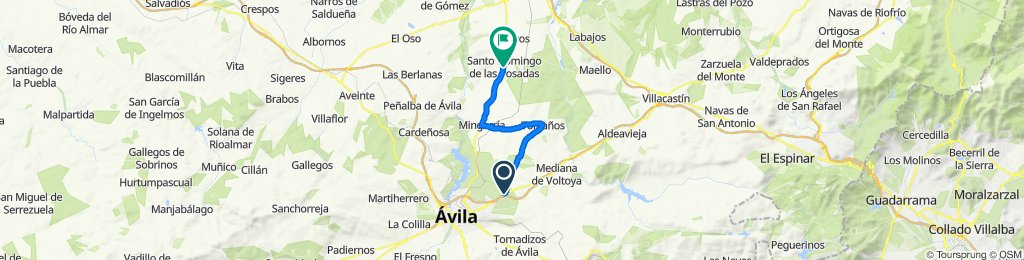 Route to Javier's Casa
