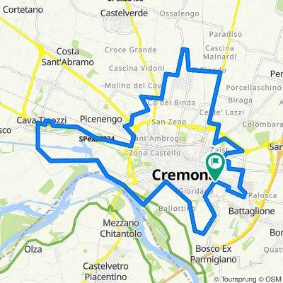 Giro attorno a Cremona (antiorario)