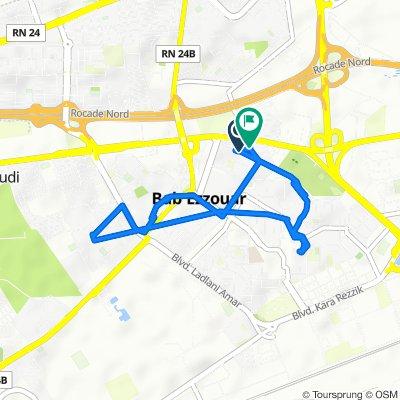 De Route Nationale 5, Bab Ezzouar à Soumam Bis Bus Stop, Bab Ezzouar