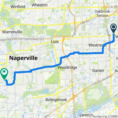 809 N Madison St, Hinsdale to 29W128 83rd St, Naperville