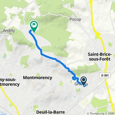 De 41 Rue Albert Molinier, Groslay à 1 Rue Racine, Montmorency