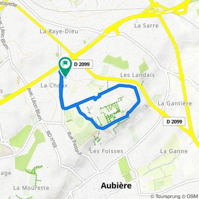 De 55 Rue des Meuniers, Clermont-Ferrand à 58 Allée des Pavots, Clermont-Ferrand