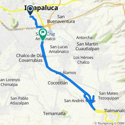 De Calle Edulis 44, Ixtapaluca a Calle Emiliano Zapata 18, Chalco
