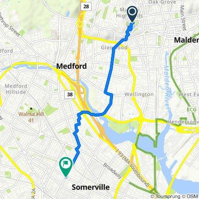 Fellsmere Rd, Malden to 154–180 Lowell St, Somerville
