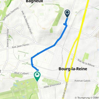 De 9 Allée Mirabeau, Bagneux à Avenue Claude Perrault, Sceaux