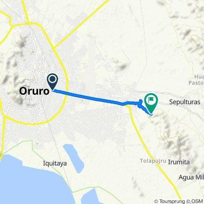 De Avenida del Ejercito 689, Oruro a Unnamed Road, Oruro