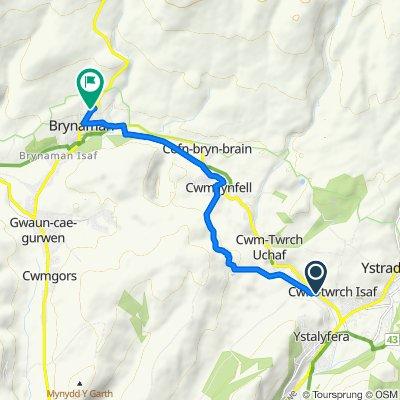 Heol Twrch 27, Cwm-twrch Isaf to Arfryn 65, Upper Brynamman