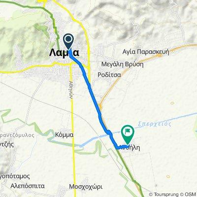 Route from Leivaditou 22, Lamia