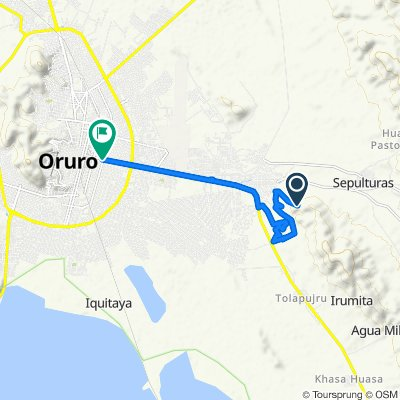 De Unnamed Road, Oruro a Avenida del Ejército 587, Oruro