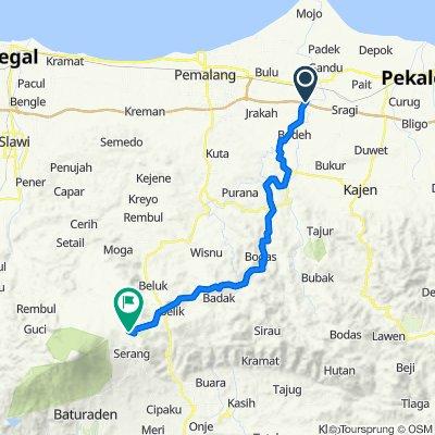 Ampelgading Tiga, Kecamatan Ampelgading to Unnamed Road, Pulosari