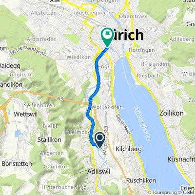 De Zürichstrasse 77F, Adliswil a Stauffacherbrücke, Zürich